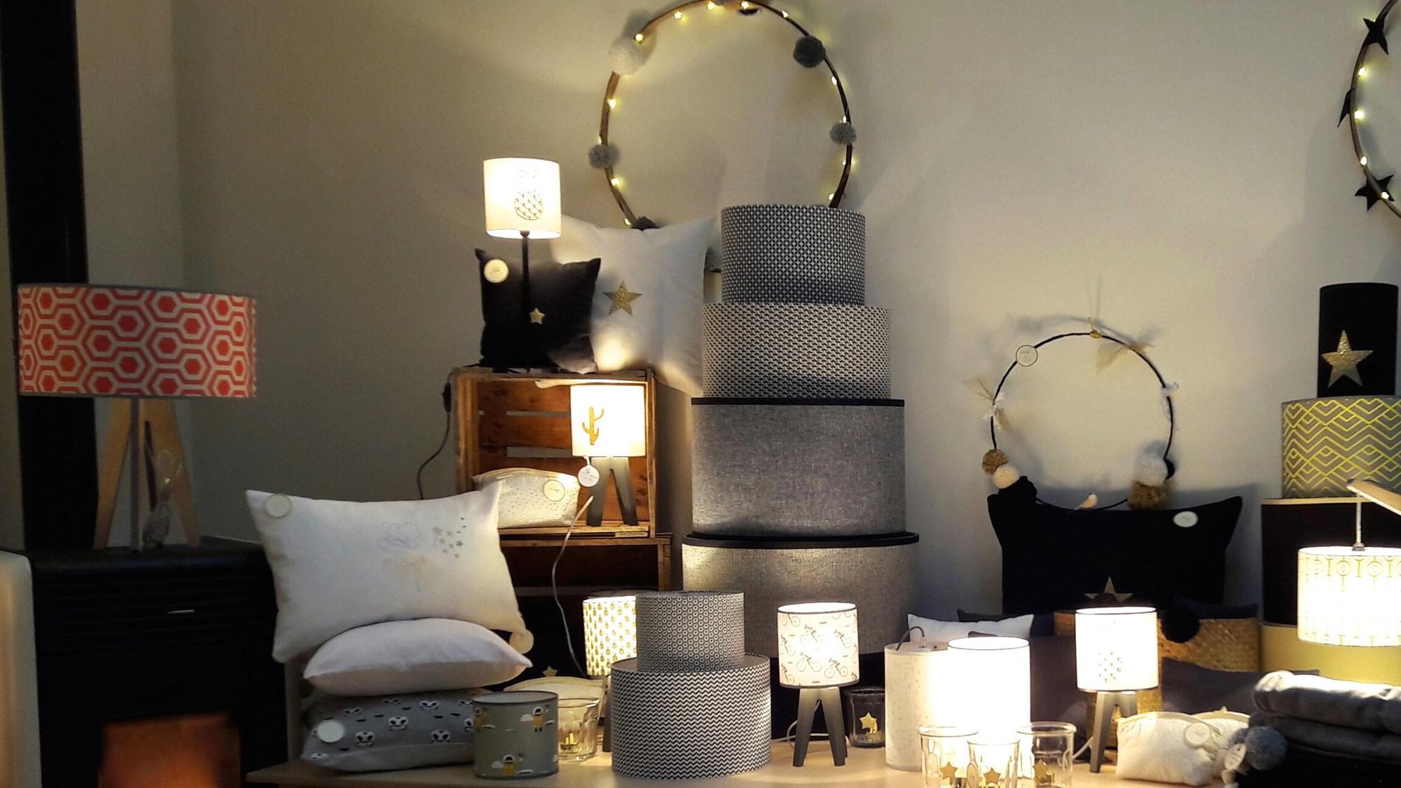 abat jour lyon alexandra d 39 argentr cr ations. Black Bedroom Furniture Sets. Home Design Ideas