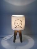 mini lampe quadripode HAPPY en popeline de coton