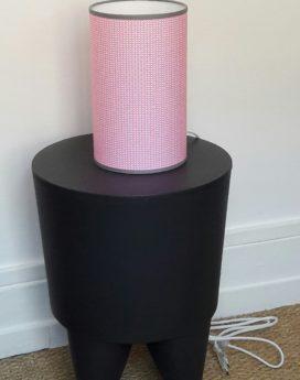 luminaire lyon décoration intérieure chambre enfant fille rose gris lampe totem 1