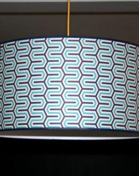 magasin luminaire lyon abat jour géométrique bleu
