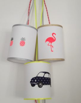 magasin luminaire lyon baladeuse chambre enfant ananas rose argenté décoration intérieur 1