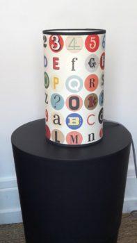 magasin luminaire lyon décoration alphabet lettres chiffres chambre enfant vintage décoration