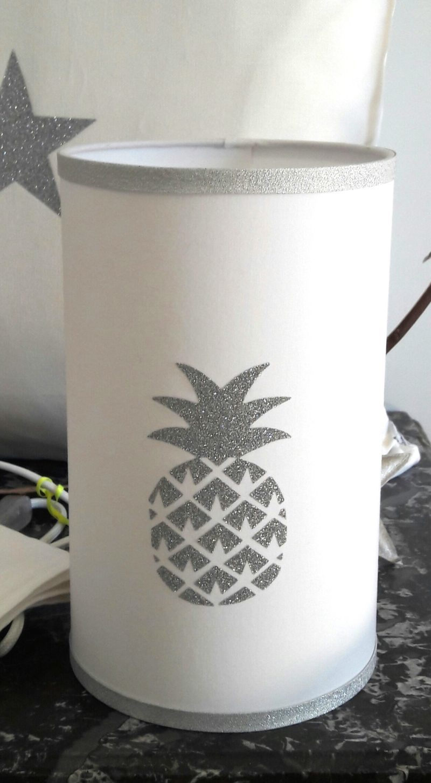 magasin luminaire lyon décoration intérieure ananas argenté pailleté