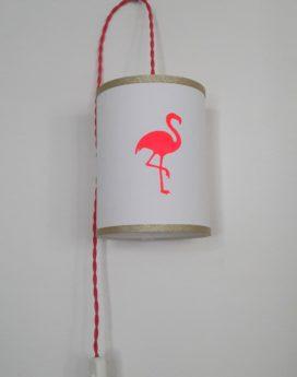 magasin luminaire lyon décoration lampe baladeuse flamant rose dorée fille chambre enfant 1