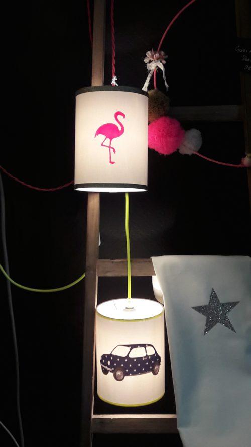 magasin luminaire lyon décoration lampe baladeuse flamant rose dorée fille chambre enfant