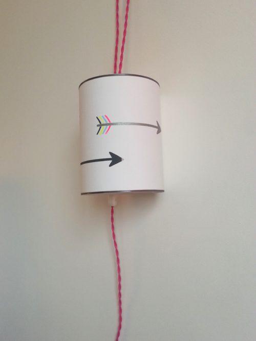 magasin luminaire lyon décoration lampe baladeuse rose flèches chambre enfant fille