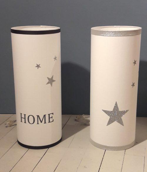 magasin luminaire lyon décoration lampe totem grand modèle étoiles argentées pailletées 1