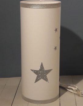 magasin luminaire lyon décoration lampe totem grand modèle étoiles argentées pailletées