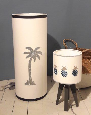 magasin luminaire lyon lampe totem GM palmier argenté