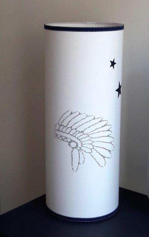 magasin luminaire lyon lampe totem coiffe indien chambre ados marine blanc petit modèle