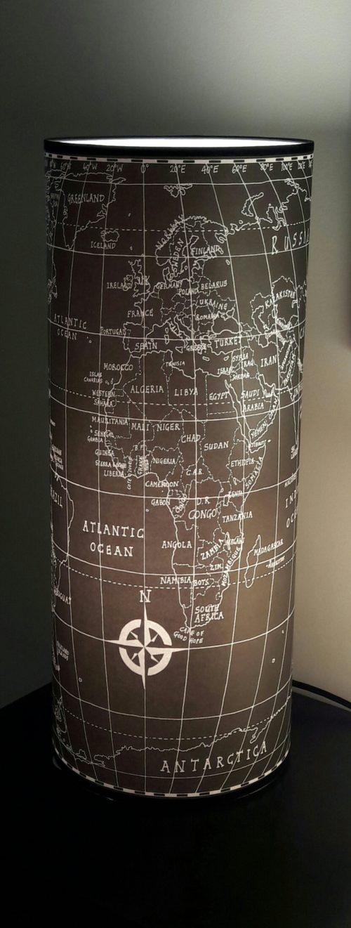 magasin luminaire lyon lampe totem grand modèle map monde noire 1