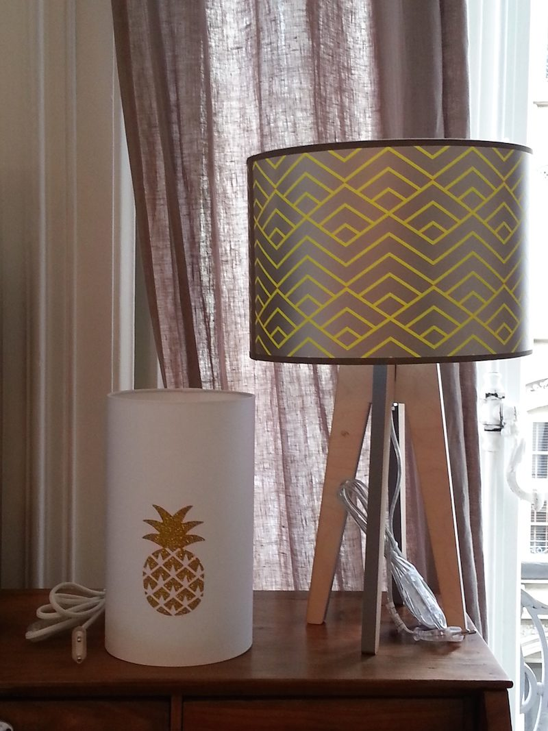 magasin-luminaire-lampe quadripode zigzag jaune lyon