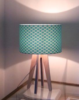 magasin luminaire lampes quadripode pois ovales turquoises lyon