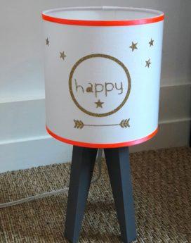 magasin luminaire lyon décoration intérieure chambre enfant fille happy corail or lampe quadripode