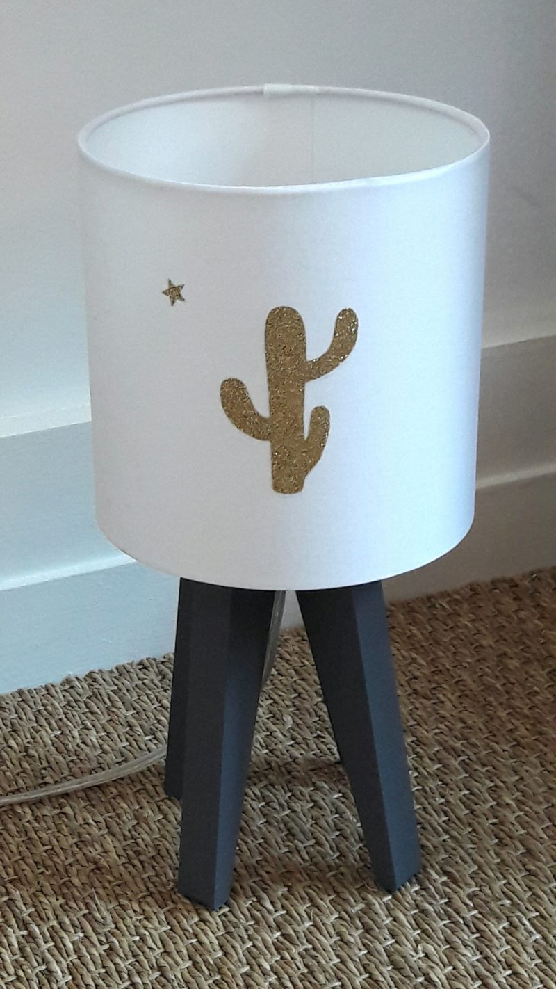 magasin luminaire lyon décoration intérieure chambre enfant lampe quadripode cactus doré 4
