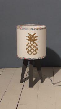 magasin luminaire lyon quadripode mini lampe ananas fille doré liberty mitsi