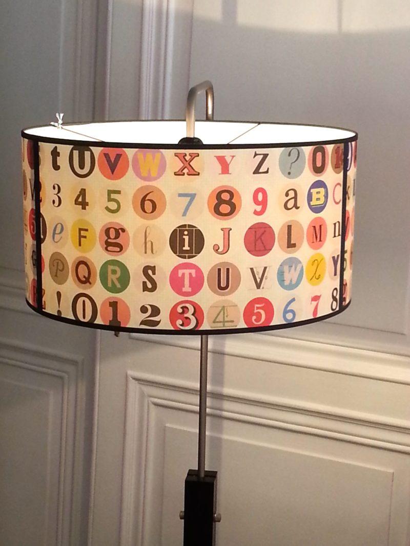 magasin-luminaire-lyon-suspension abat jour alphabet vintage chambre enfant 2