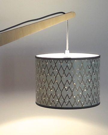 magasin luminaire lyon vert eau lampe potance losange doré