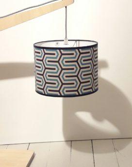 magasin lumimaire lyon lampe potence géométrique bleus craies