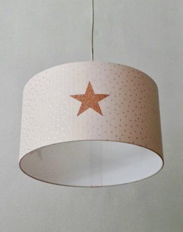 magasin luminaire lyon gaze coton pois cuivré étoile