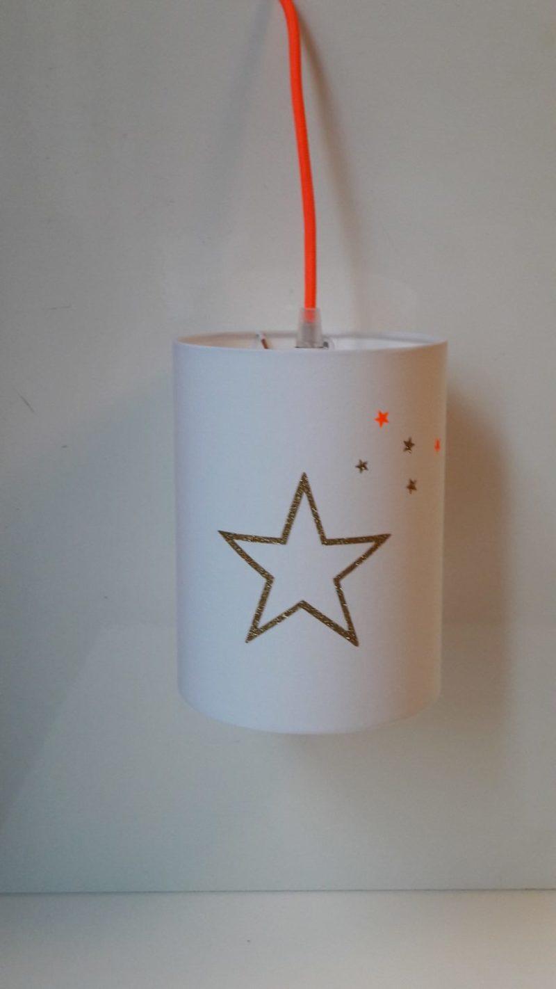 magasin luminaire lyon lampe baladeuse contour étoile or corail fluo chambre enfant