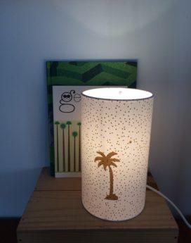 magasin luminaire lyon lampe totem décoration intérieure palmier or doré 1