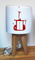 mini lampe quadripode téléphérique rouge