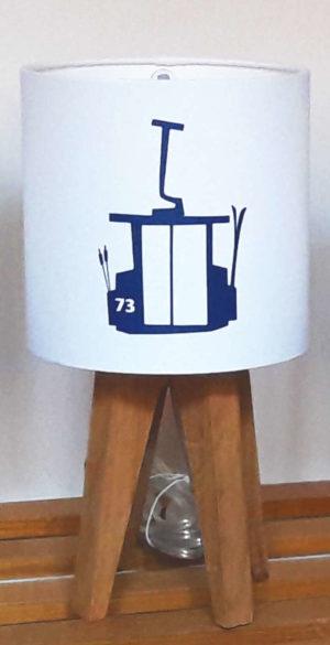mini lampe quadripode téléphérique bleu
