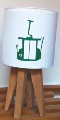 mini lampe quadripode téléphérique vert