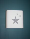 étoiles argentées pailletées