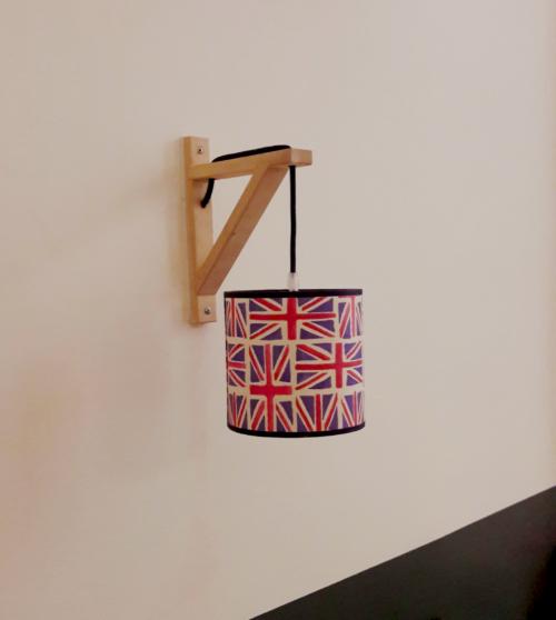 applique murale équerre drapeaux anglais