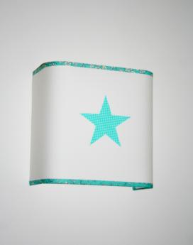 magasin luminaire lyon applique demi carre turquoise liberty