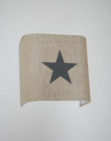 magasin luminaire lyon applique murale étoile grise lin ficelle déco