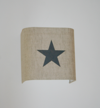 magasin luminaire lyon applique murale étoile grise lin ficelle décoration