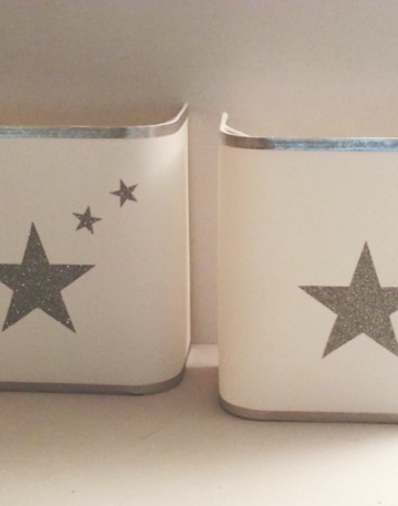 magasin luminaire lyon applique murale étoiles argentées pailletées chambre enfant décoration