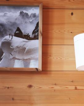 lampe baladeuse flanelle avec une surpiqûre brodée en coton grise