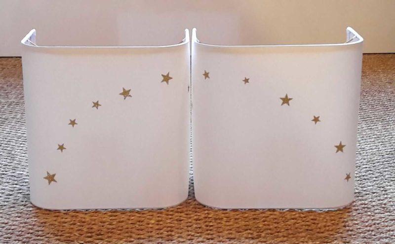 magasin luminaire lyon applique murale décoration étoiles dorées