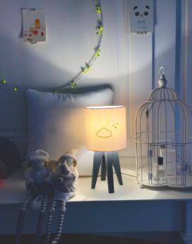 magasin luminaire lyon lampe quadripode chambre enfant gaze de coton nuage doré 2