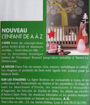 magasin luminaire lyon décoration enfant article presse