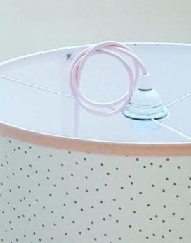 magasin luminaire lyon décoration suspension chambre enfant fille pois rose