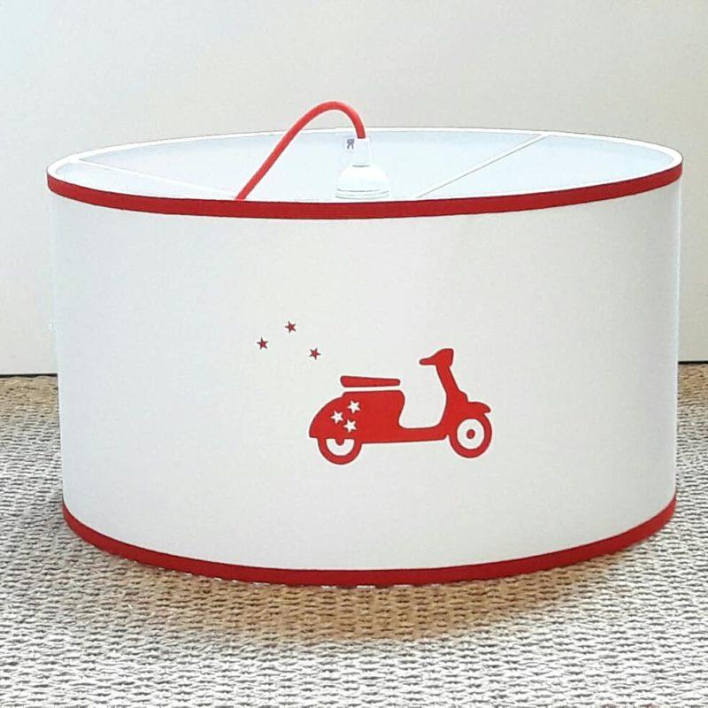 magasin luminaire lyon décoration suspension chambre enfant garçon scooter rouge