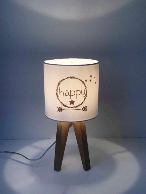 magasin luminaire lyon lampe abat jour happy pailleté doré