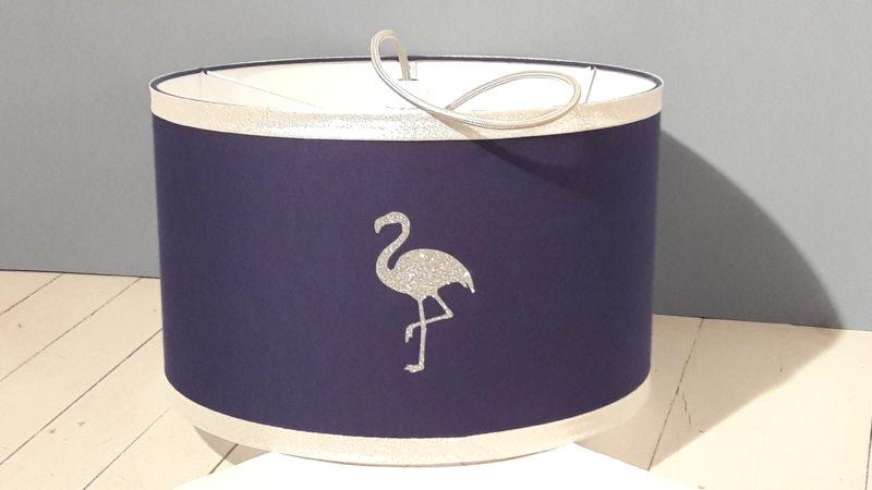 magasin luminaire lyon suspension chambre enfant flamant argenté violet