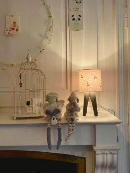 abat jour lyon luminaire chambre enfant décoration ananas cuivré