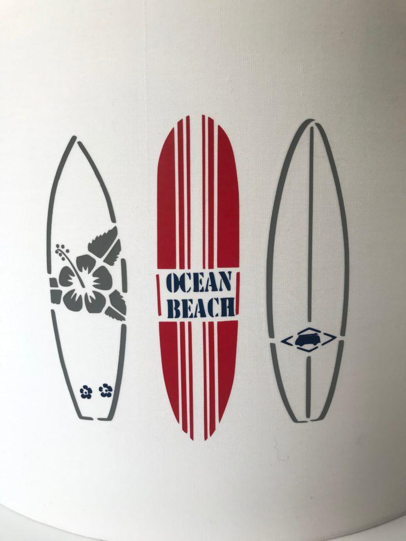 abat jour lyon decoration mer planche surf