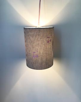 magasin luminaire lampe baladeuse vichy cerise decoration
