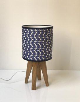 magasin luminaire lampe quadripode mini esme bleu