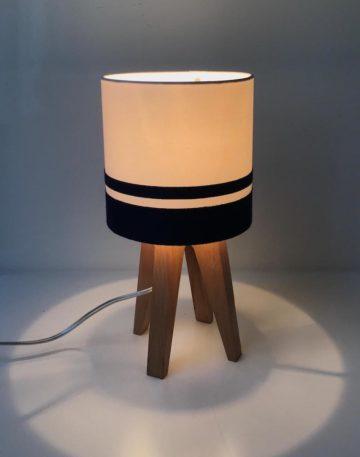 magasin luminaire lampe quadripode mini uni bandes marines