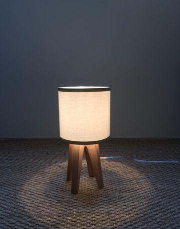magasin luminaire lyon lampe quadripode lin blanc