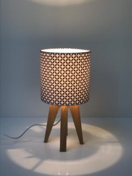 magasin luminaire lyon lampe quadripode mini géométrique bleu décoration